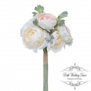 Helen Peony Ranunculus with 6 Flowers Champagne (30cmH)
