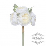 Helen Peony Ranunculus with 6 Flowers Cream (30cmH)