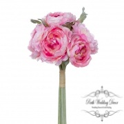 Helen Peony Ranunculus with 6 Flowers Pink (30cmH)