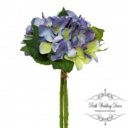 Hydrangea Bouquet x3 Stems Blue (31cmH)