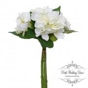 Hydrangea Bouquet x3 Stems Cream (31cmH)