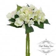 Hydrangea Bouquet x3 Stems Green (31cmH)