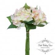 Hydrangea Bouquet x3 Stems Light Pink (31cmH)