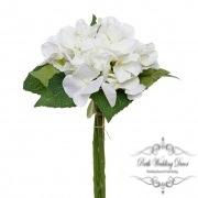 Hydrangea Bouquet x3 Stems White (31cmH)