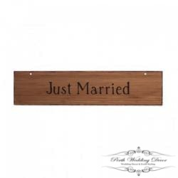 Just married wooden sign. $1.00 each