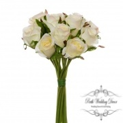 Katie Rose Bouquet with 16 Flowers Champagne.Cream (25cmH)