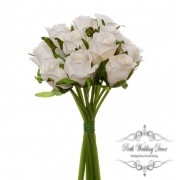 Katie Rose Bouquet with 16 Flowers Cream (25cmH)