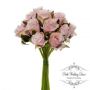 Katie Rose Bouquet with 16 Flowers Light Pink (25cmH)
