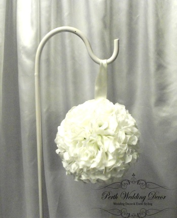 large white kissing ball. $2.00 each