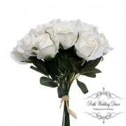 Lavina Rose Bud Bouquet 18 Heads Cream (33cmH