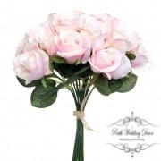 Lavina Rose Bud Bouquet 18 Heads Pink (33cmH