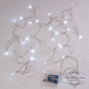 LED Lighting chain with 12 lights, transparent battery opporated, 3.7m. $1.75 each