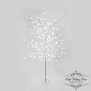 LED tree globe light 1.5m white with silver base. $35.00 each
