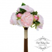 Melony Peony Bouquet with 7 Flowers Light Pink (31cmH)