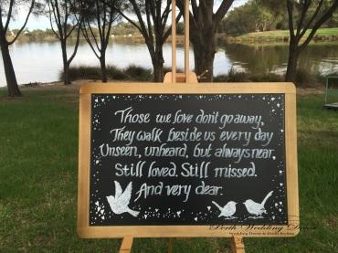 Memorial blackboard. $3.50 each