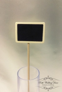 Mini blackboard in stick. $0.50 each