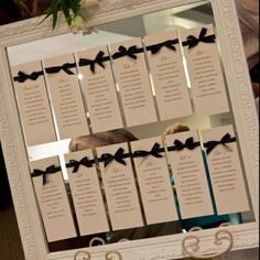 Mirror base seating chart (2). $40.00