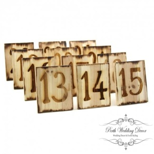 Natural square woodburned 1-20. $1.50 each
