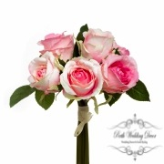 Open Rosita Rose Bouquet x6 Flowers Pink (28cmH)