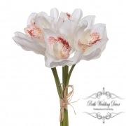 Orchid Cymbidium Bouquet (6 Heads 25cmST.) White