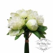 Peony Amber Bouquet Green (26cmH)