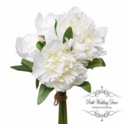 Peony Amber Bouquet White (26cmH)