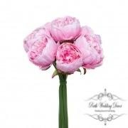 Peony Bouquet Emily x8 Flowers Pink (34cmH)