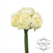 Peony Bouquet Emily x8 Flowers White (34cmH)