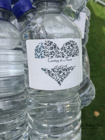 Personalised water bottles. $1.00-$3.50