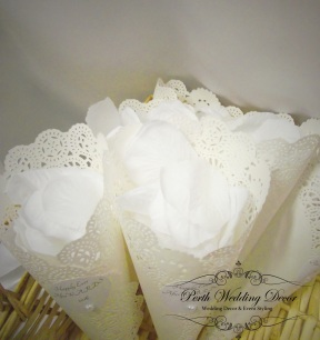 petal cones can come in all colours with fresh petals. $1.00 each