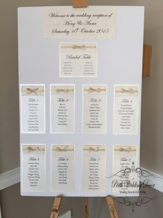 Ribbon & lace seating chart (3). $35.00