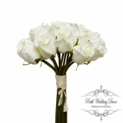 Rosalie Rose Bud Bouquet x15 Flowers Cream (28cmH)