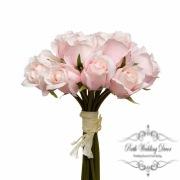 Rosalie Rose Bud Bouquet x15 Flowers Light Pink (28cmH)