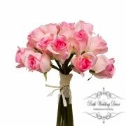 Rosalie Rose Bud Bouquet x15 Flowers Pink (28cmH)