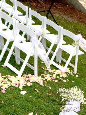 Rose petal aisle, your choice of colour. $35.00 each