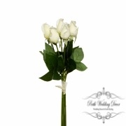 Rose Siena Bouquet Mini Buds x5 Real Touch Cream (44cmH)