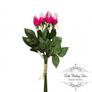 Rose Siena Bouquet Mini Buds x5 Real Touch Pink Ice (44cmST)
