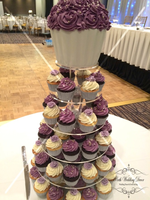 Round cupcake stand. $50.00