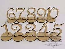 Short wooden numbers 1-20. $1.50 each