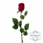 Siena Rose Bud Real Touch Red (60cmH)