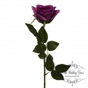 Siena Rose Open Real Touch Blue Moon Mauve (75cmH)