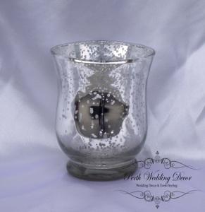 silver dot vase