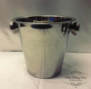 Silver ice bucket. $2.00 each