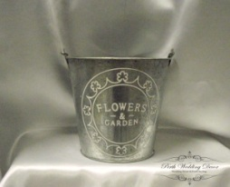 Silver metal bucket. $3.00 each