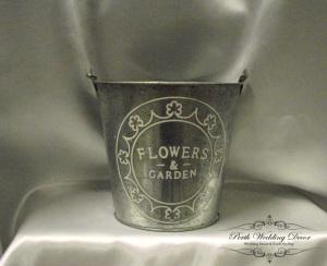 Silver metal bucket. $3.00 each