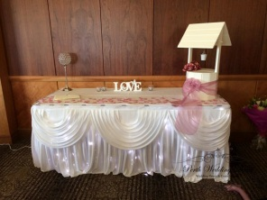 Skirting, draping and fairy lights. $18.00 each-1