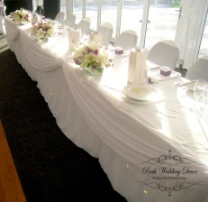 Small arrangment of fresh flowers to brighten up your bridal table. POA