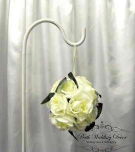 Small off white with greenery kissing ball. $2.00 each