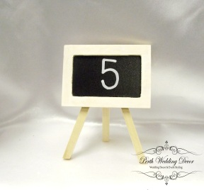 Small wooden easle with blackboard. $1.00 each