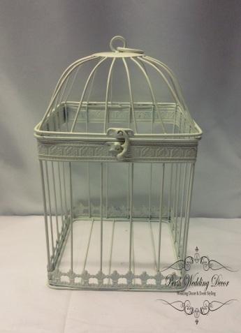 Square metal birdcage. $7.50 each